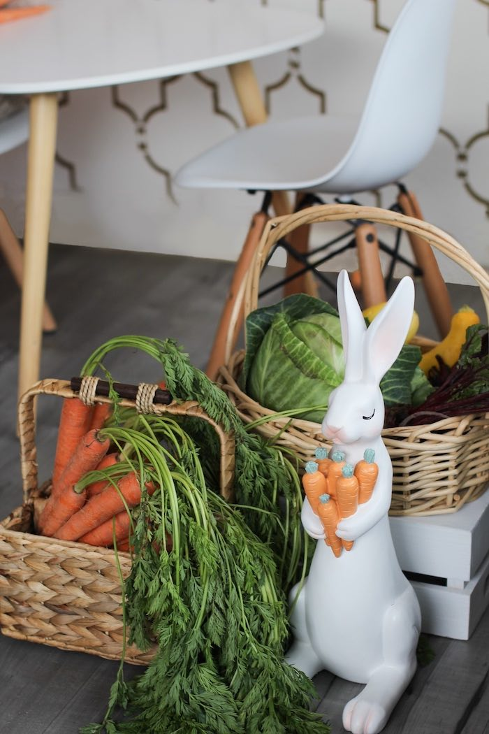 Bunny & Vegetable Baskets from a Carrot Patch Easter Party on Kara's Party Ideas | KarasPartyIdeas.com (6)