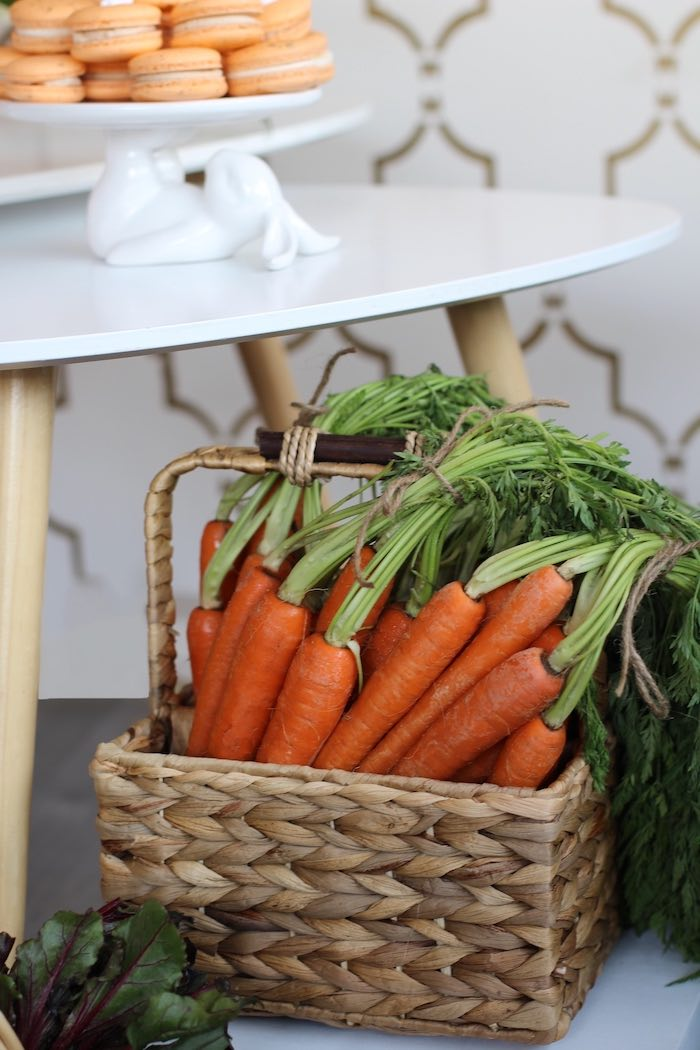 Basket of Fres-picked Carrots from a Carrot Patch Easter Party on Kara's Party Ideas | KarasPartyIdeas.com (30)