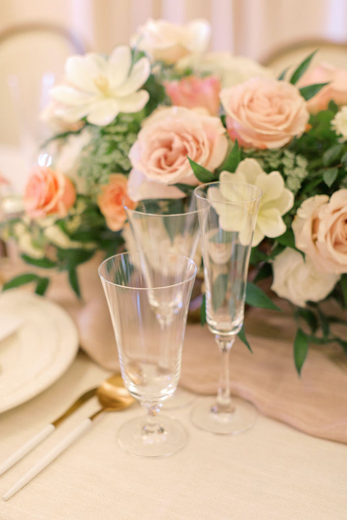 Drink Flutes from a Cozy and Luxurious Baby Shower on Kara's Party Ideas | KarasPartyIdeas.com (18)