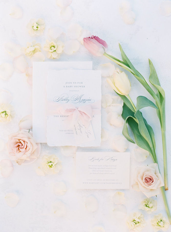 Party Invite + Stationery from a Cozy and Luxurious Baby Shower on Kara's Party Ideas | KarasPartyIdeas.com (35)