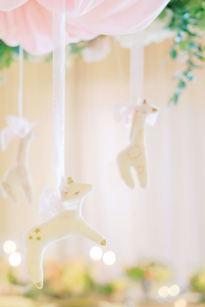 Mobile Centerpiece from a Cozy and Luxurious Baby Shower on Kara's Party Ideas | KarasPartyIdeas.com (16)