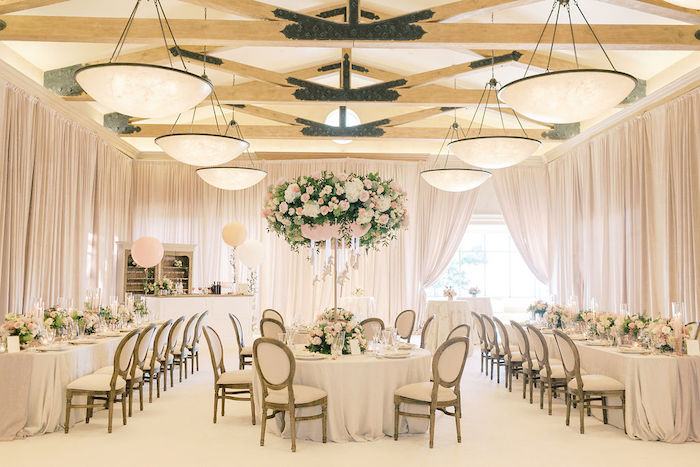 Guest Tables from a Cozy and Luxurious Baby Shower on Kara's Party Ideas | KarasPartyIdeas.com (15)