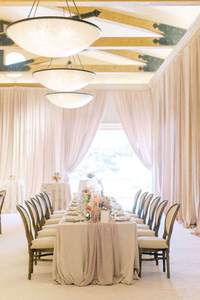 Neutral-colored Head Table from a Cozy and Luxurious Baby Shower on Kara's Party Ideas | KarasPartyIdeas.com (14)