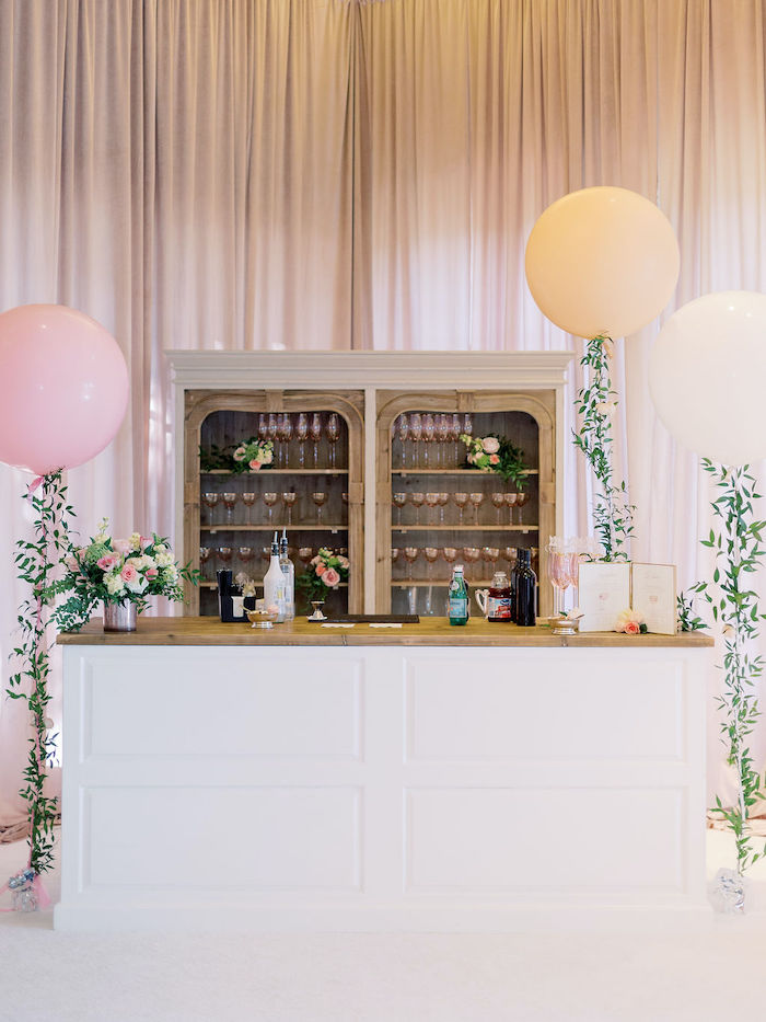 Bar from a Cozy and Luxurious Baby Shower on Kara's Party Ideas | KarasPartyIdeas.com (8)