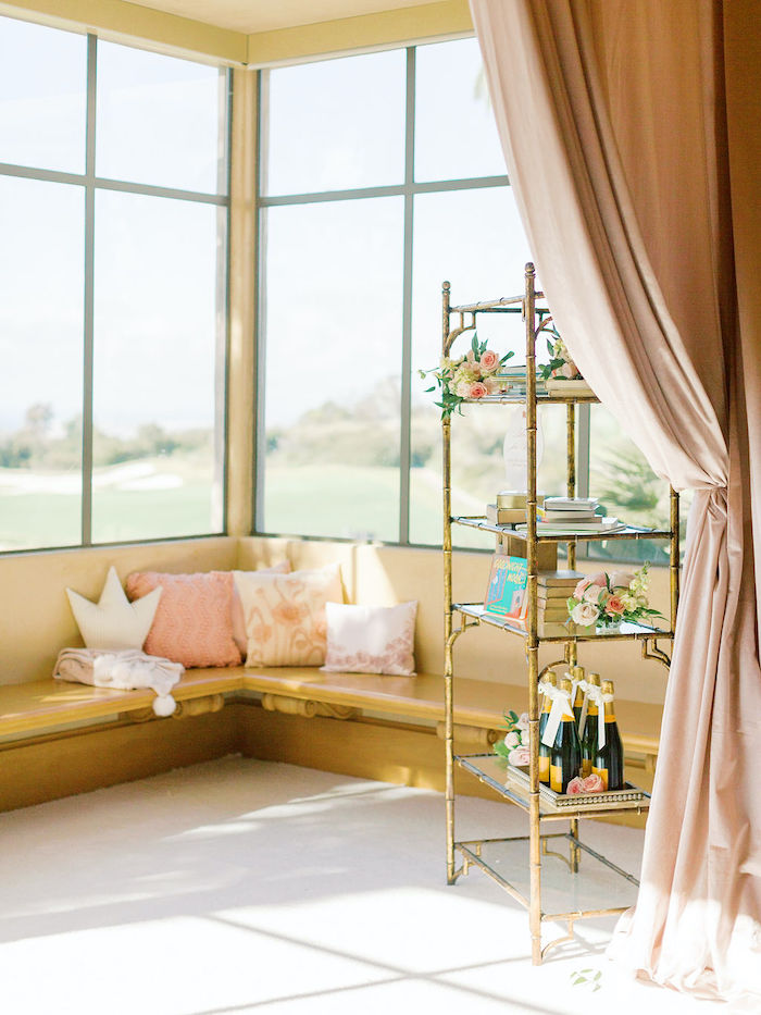 Welcome Lounge from a Cozy and Luxurious Baby Shower on Kara's Party Ideas | KarasPartyIdeas.com (7)