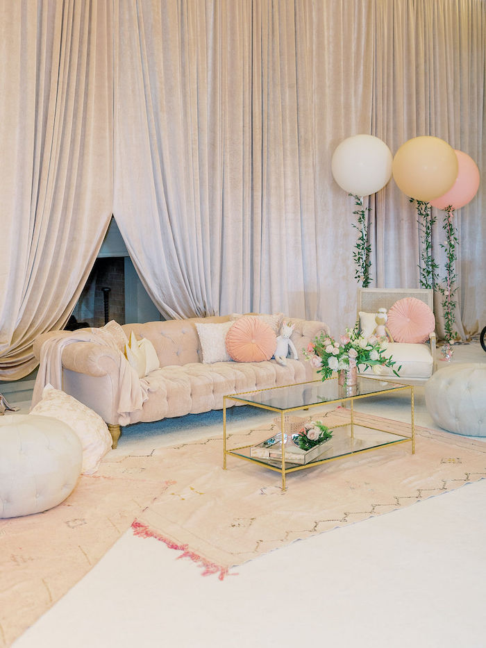 Social Lounge from a Cozy and Luxurious Baby Shower on Kara's Party Ideas | KarasPartyIdeas.com (6)