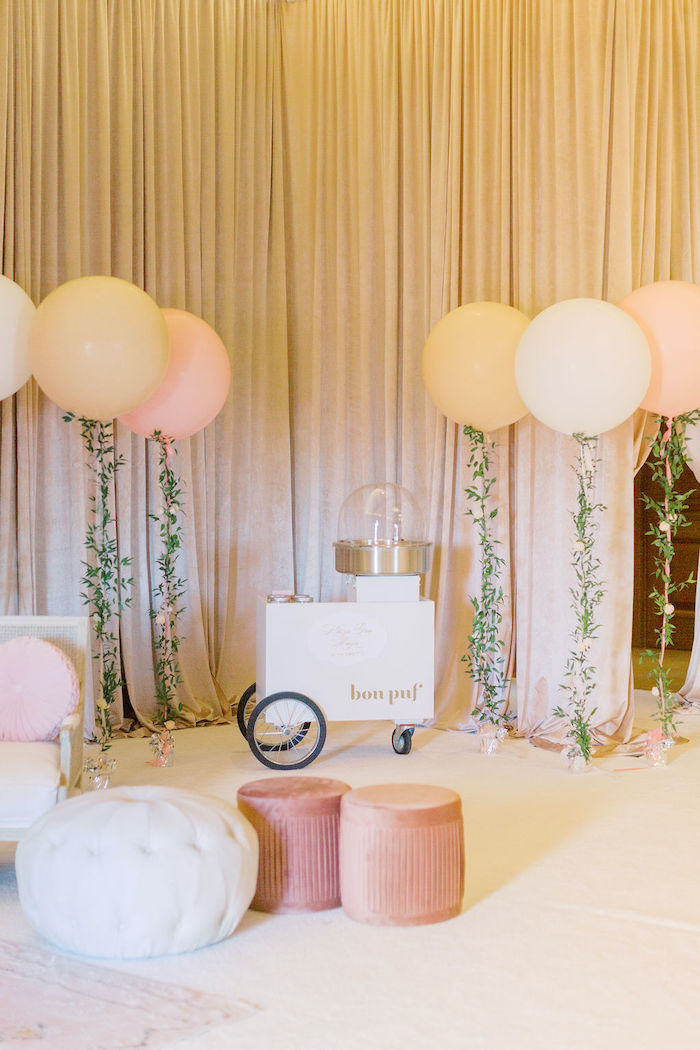 Cotton Candy Lounge from a Cozy and Luxurious Baby Shower on Kara's Party Ideas | KarasPartyIdeas.com (5)