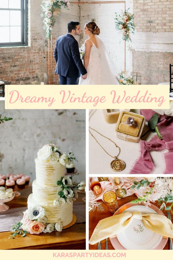 Dreamy Vintage Wedding via Kara's Party Ideas - KarasPartyIdeas.com