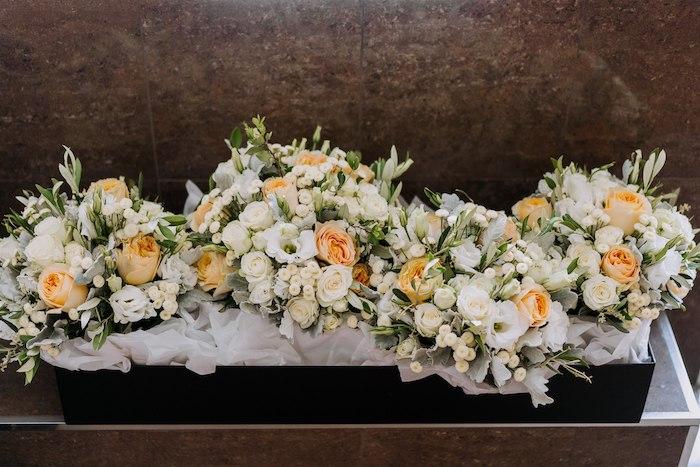 Gorgeous Orange and White Floral Spray from an Elegant Vineyard Wedding on Kara's Party Ideas | KarasPartyIdeas.com (37)