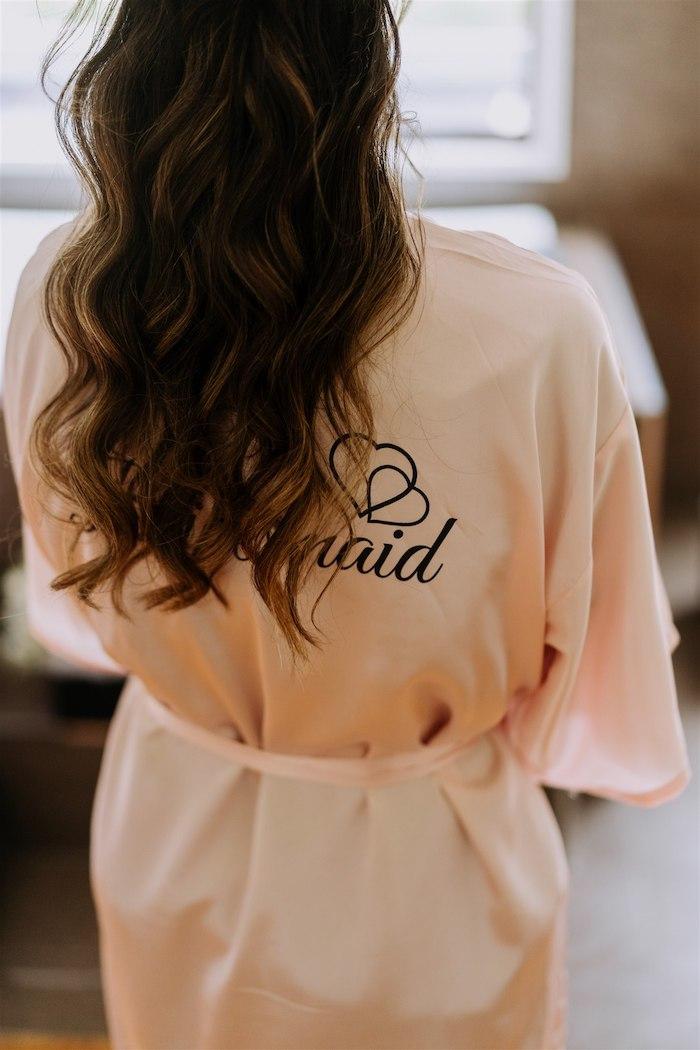 Bridesmaid Robe from an Elegant Vineyard Wedding on Kara's Party Ideas | KarasPartyIdeas.com (35)