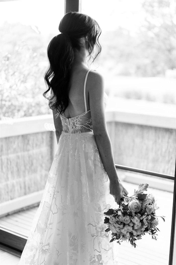 Bride from an Elegant Vineyard Wedding on Kara's Party Ideas | KarasPartyIdeas.com (33)