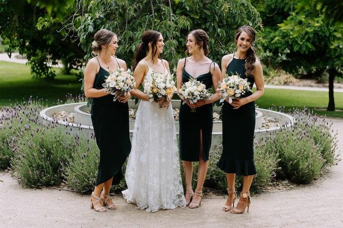 Bridal Party from an Elegant Vineyard Wedding on Kara's Party Ideas | KarasPartyIdeas.com (24)
