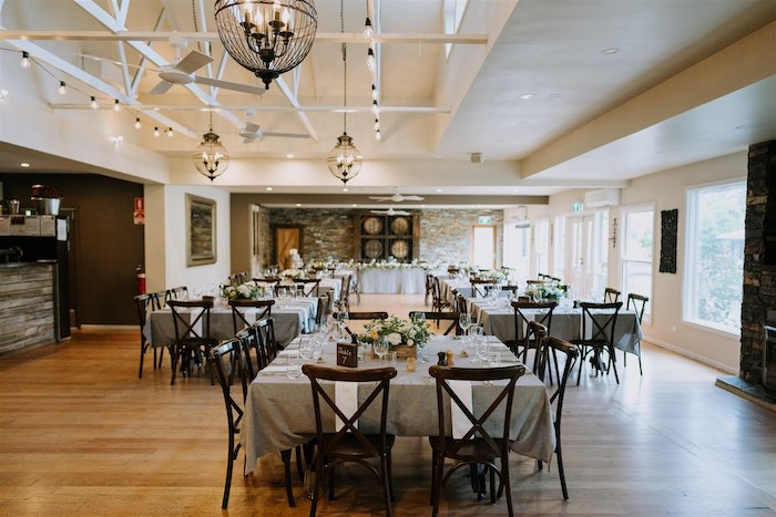 Dining Venue + Guest Tables from an Elegant Vineyard Wedding on Kara's Party Ideas | KarasPartyIdeas.com (23)