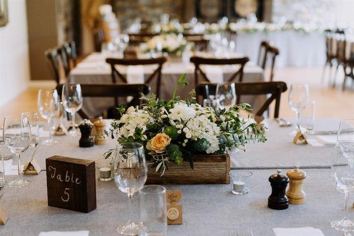 Guest Table from an Elegant Vineyard Wedding on Kara's Party Ideas | KarasPartyIdeas.com (22)
