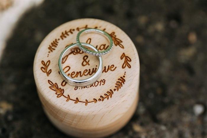 Wedding Bands atop Custom Wine Cork from an Elegant Vineyard Wedding on Kara's Party Ideas | KarasPartyIdeas.com (48)