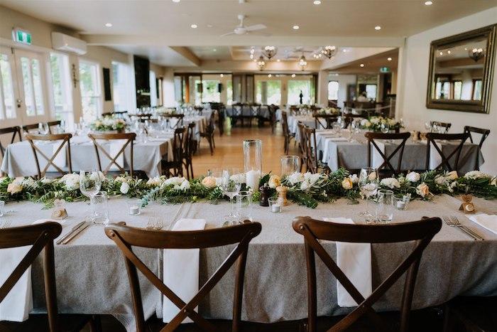 Head Dining Table from an Elegant Vineyard Wedding on Kara's Party Ideas | KarasPartyIdeas.com (20)