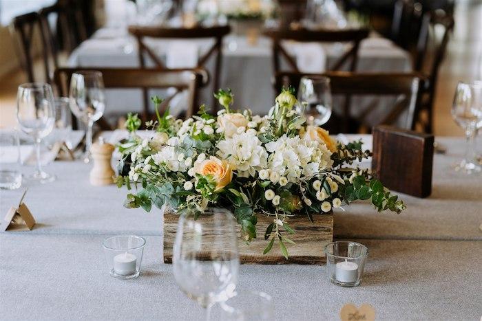 Wood Box Blooms + Floral Arrangement from an Elegant Vineyard Wedding on Kara's Party Ideas | KarasPartyIdeas.com (19)