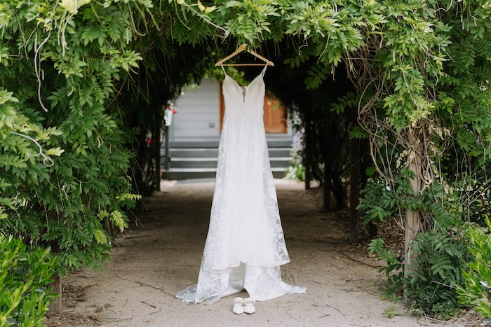 Vintage Modern Lace Wedding Dress from an Elegant Vineyard Wedding on Kara's Party Ideas | KarasPartyIdeas.com (42)