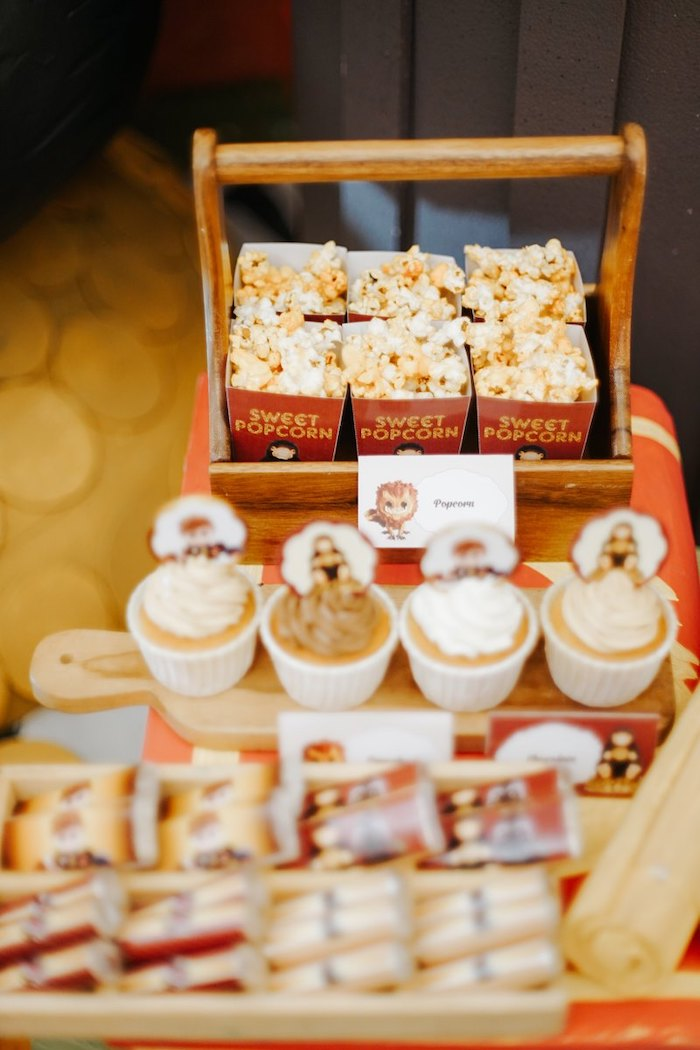Popcorn & Cupcakes from a Fantastic Beasts Birthday Party on Kara's Party Ideas | KarasPartyIdeas.com (19)