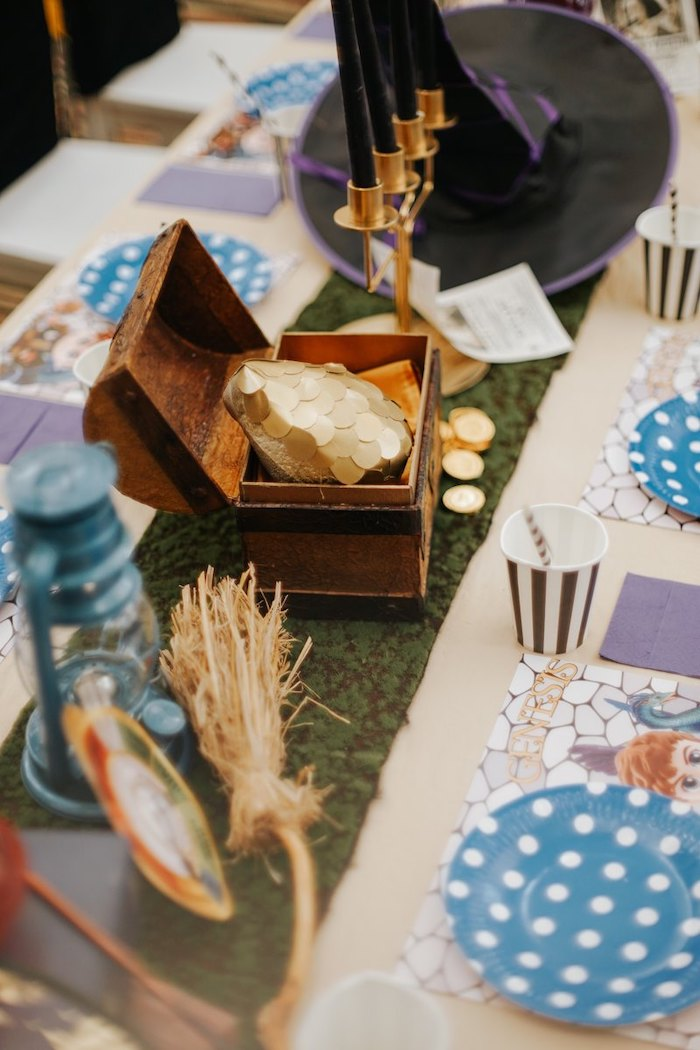 Party Table from a Fantastic Beasts Birthday Party on Kara's Party Ideas | KarasPartyIdeas.com (18)