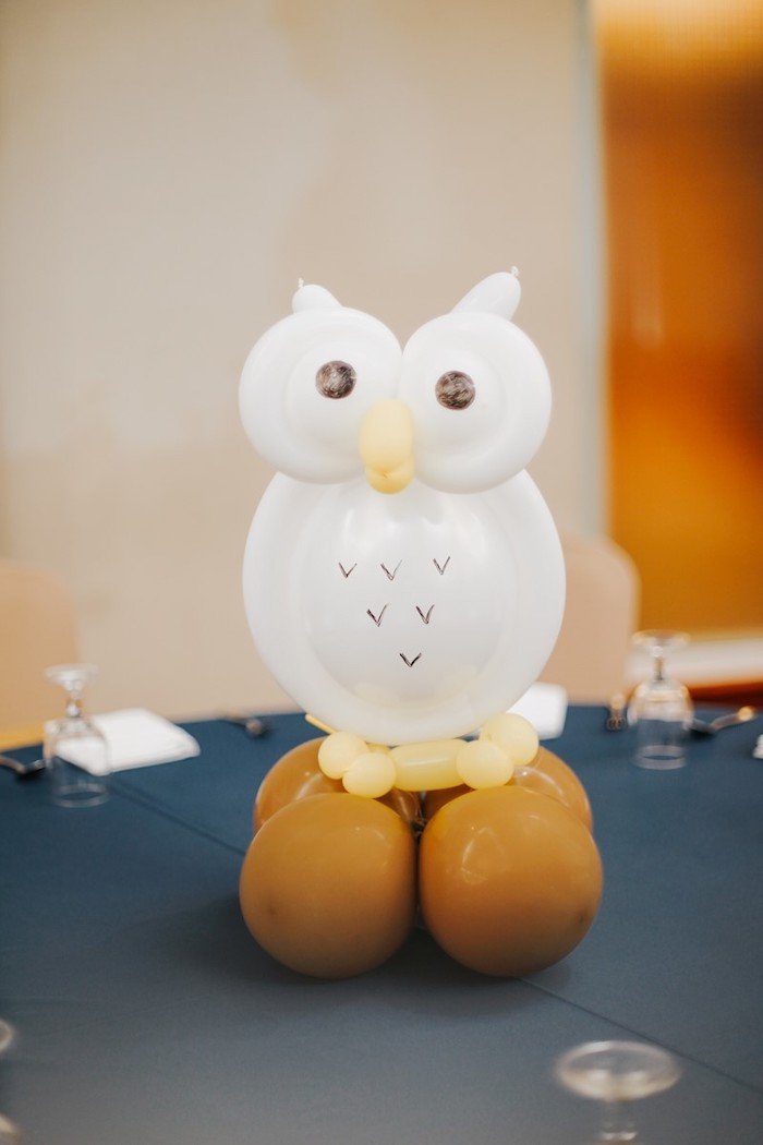 Balloon Owl Centerpiece from a Fantastic Beasts Birthday Party on Kara's Party Ideas | KarasPartyIdeas.com (12)