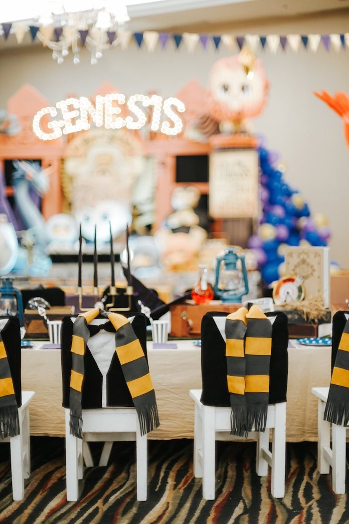 Fantastic Beasts-inspired Kid Table from a Fantastic Beasts Birthday Party on Kara's Party Ideas | KarasPartyIdeas.com (23)