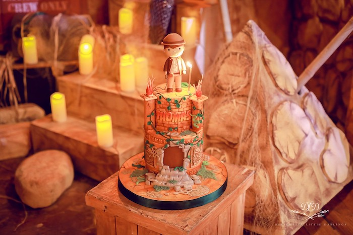 Indiana Jones Cake from an Indiana Jones Birthday Party on Kara's Party Ideas | KarasPartyIdeas.com (26)