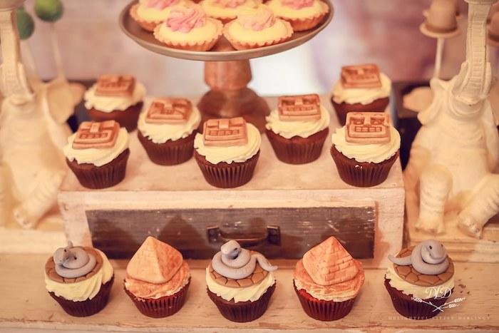Indiana Jones Cupcakes from an Indiana Jones Birthday Party on Kara's Party Ideas   KarasPartyIdeas.com (24)