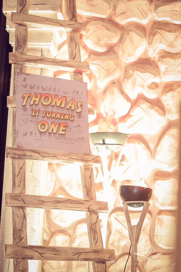 Ladder & Signage from an Indiana Jones Birthday Party on Kara's Party Ideas | KarasPartyIdeas.com (20)