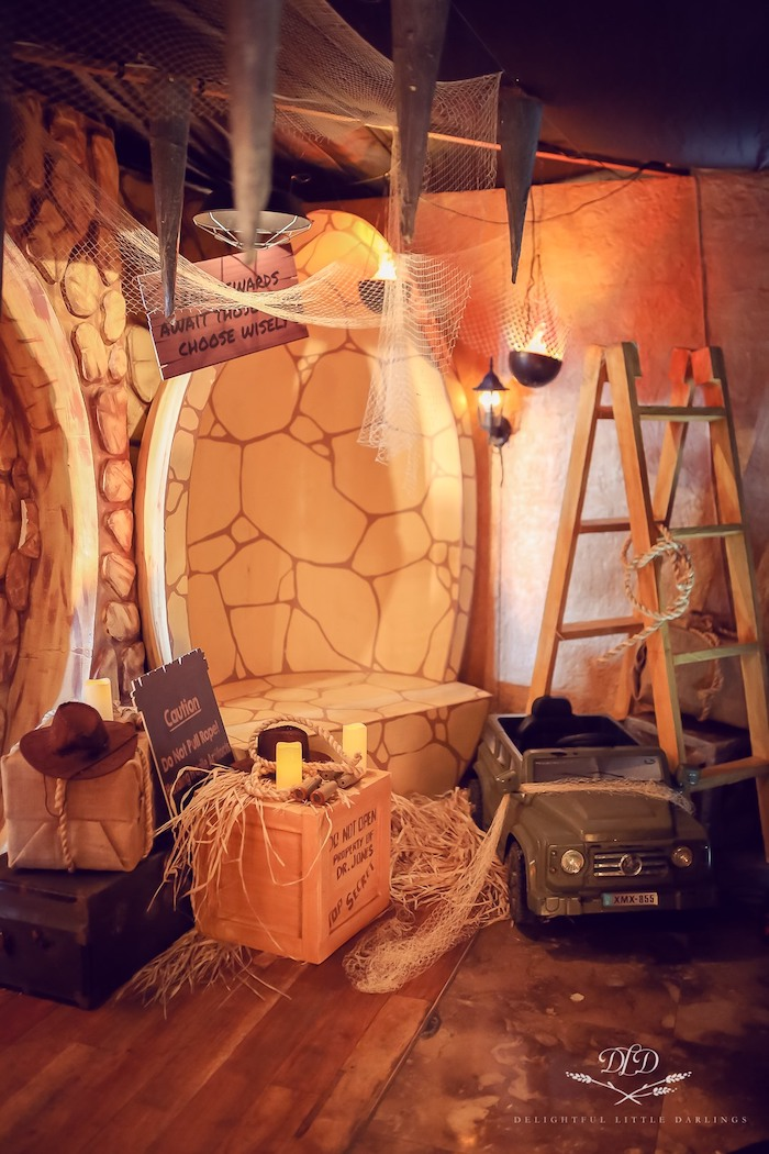 Indiana Jones-inspired Photo Booth from an Indiana Jones Birthday Party on Kara's Party Ideas | KarasPartyIdeas.com (16)