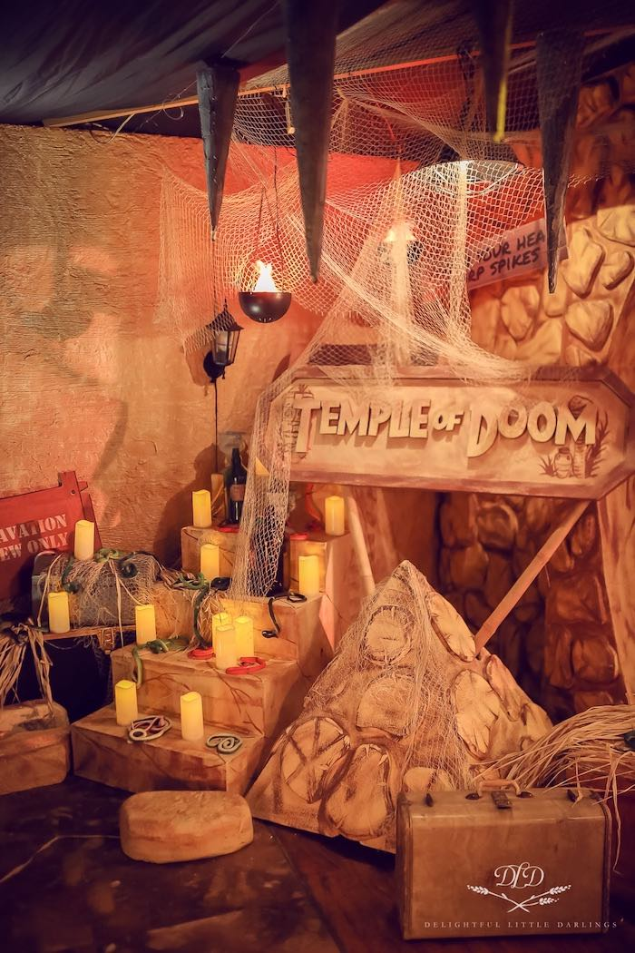 Temple of Doom from an Indiana Jones Birthday Party on Kara's Party Ideas   KarasPartyIdeas.com (14)