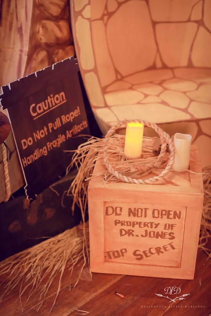 Top Secret Box Prop from an Indiana Jones Birthday Party on Kara's Party Ideas   KarasPartyIdeas.com (10)