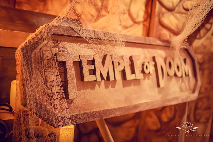 Temple of Doom Signage from an Indiana Jones Birthday Party on Kara's Party Ideas | KarasPartyIdeas.com (8)