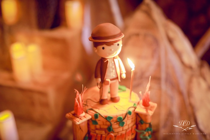 Indiana Jones Cake Topper from an Indiana Jones Birthday Party on Kara's Party Ideas | KarasPartyIdeas.com (6)