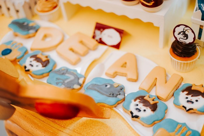 Cookies from a Knights and Dragons Birthday Party on Kara's Party Ideas | KarasPartyIdeas.com (4)