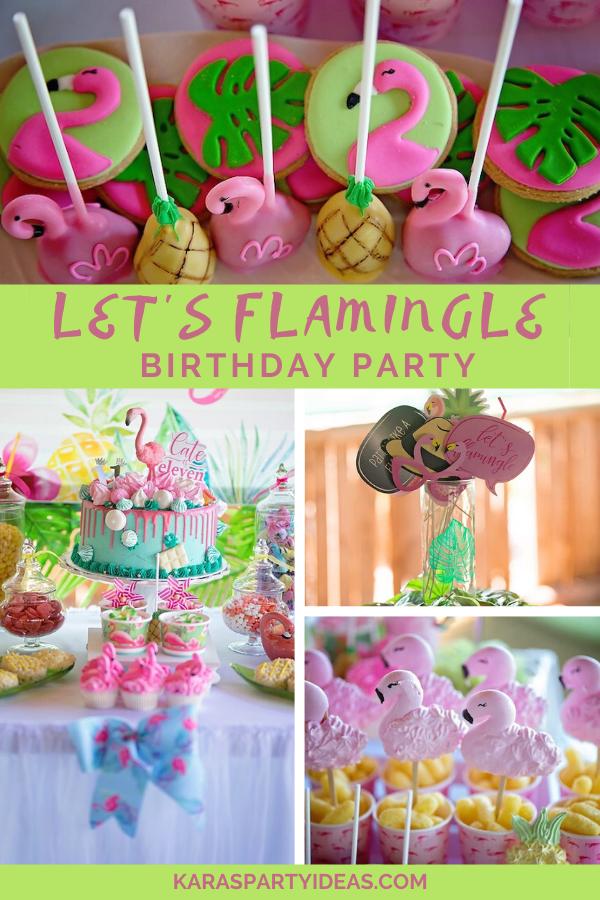 Let's Flamingle Birthday Party via Kara's Party Ideas - KarasPartyIdeas.com