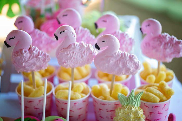 Flamingo Meringue Pops from a Let's Flamingle Birthday Party on Kara's Party Ideas | KarasPartyIdeas.com (29)