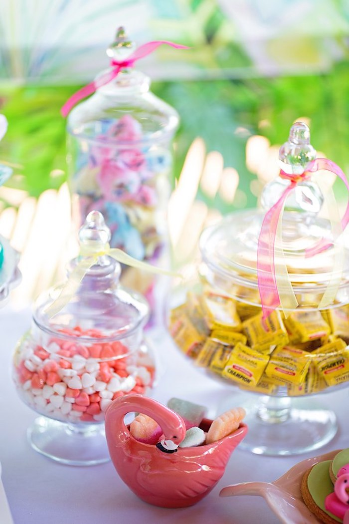 Candy Buffet from a Let's Flamingle Birthday Party on Kara's Party Ideas | KarasPartyIdeas.com (23)