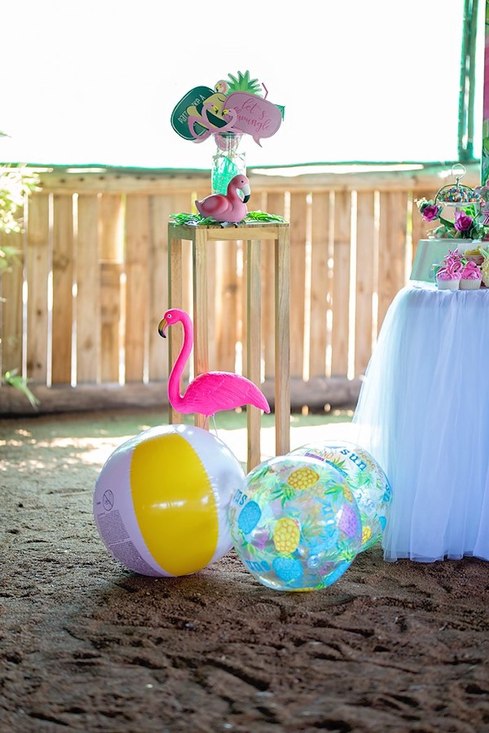 Photo Booth Prop Table from a Let's Flamingle Birthday Party on Kara's Party Ideas | KarasPartyIdeas.com (17)