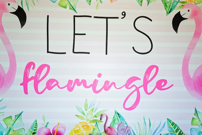 Let's Flamingle Sign from a Let's Flamingle Birthday Party on Kara's Party Ideas | KarasPartyIdeas.com (16)