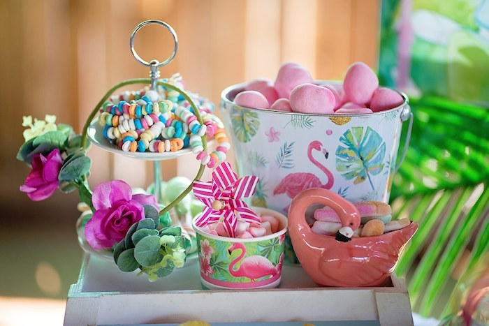 Candy Cups from a Let's Flamingle Birthday Party on Kara's Party Ideas | KarasPartyIdeas.com (13)