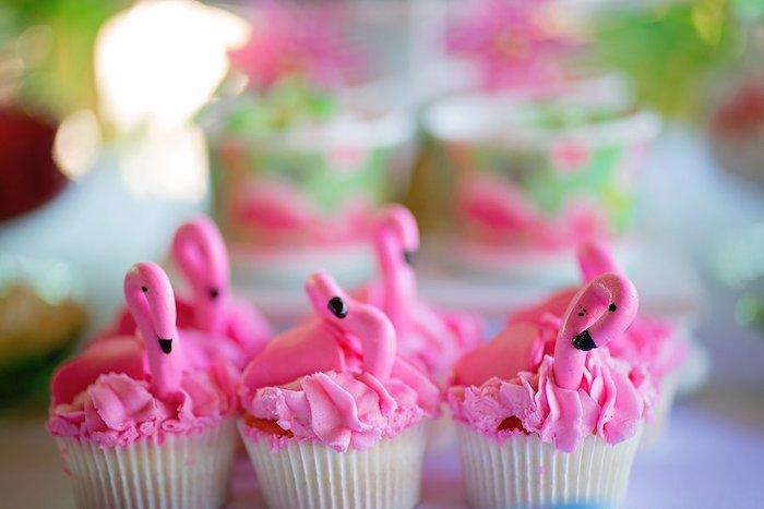 Flamingo Cupcakes from a Let's Flamingle Birthday Party on Kara's Party Ideas | KarasPartyIdeas.com (11)