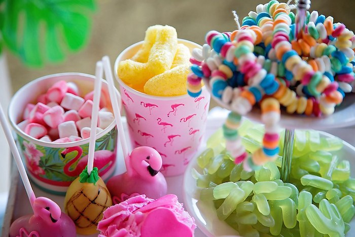 Sweets and Snacks from a Let's Flamingle Birthday Party on Kara's Party Ideas | KarasPartyIdeas.com (9)