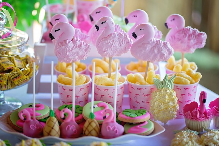 Flamingo Snacks and Sweets from a Let's Flamingle Birthday Party on Kara's Party Ideas | KarasPartyIdeas.com (5)