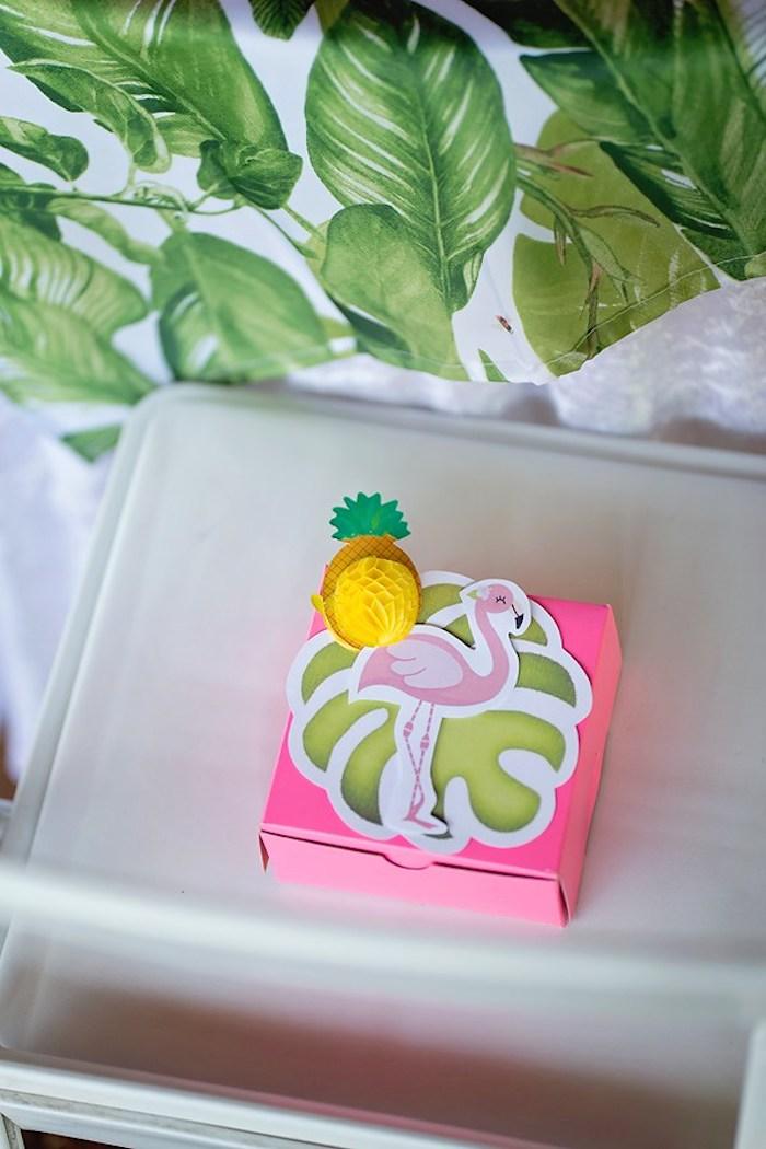 Flamingo Favor Box from a Let's Flamingle Birthday Party on Kara's Party Ideas | KarasPartyIdeas.com (39)