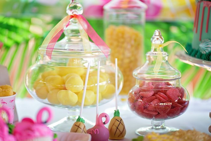 Candy Buffet from a Let's Flamingle Birthday Party on Kara's Party Ideas | KarasPartyIdeas.com (36)