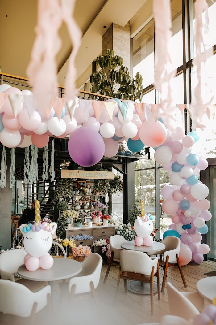 Flower Shop from a Magical Unicorn Birthday Party on Kara's Party Ideas | KarasPartyIdeas.com (18)