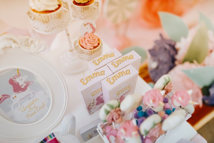 Custom Wafer Boxes from a Magical Unicorn Birthday Party on Kara's Party Ideas | KarasPartyIdeas.com (28)