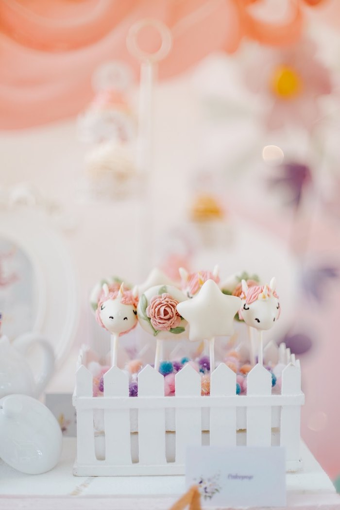 Unicorn-inspired Cake Pops from a Magical Unicorn Birthday Party on Kara's Party Ideas | KarasPartyIdeas.com (6)