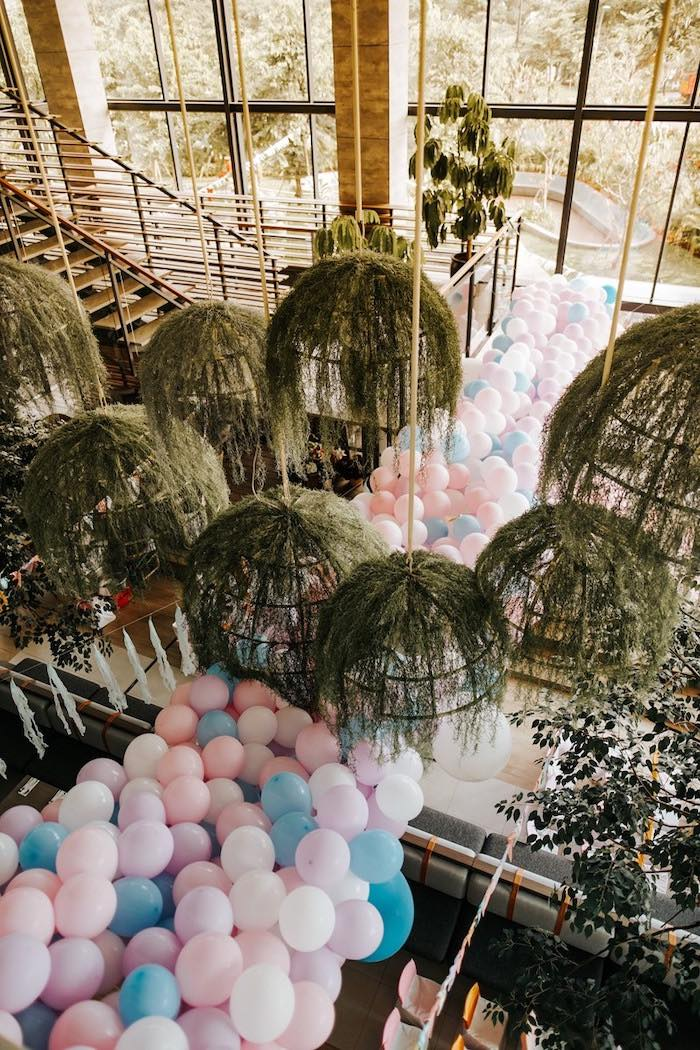 Pastel Balloon Install from a Magical Unicorn Birthday Party on Kara's Party Ideas | KarasPartyIdeas.com (25)